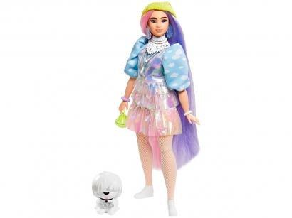 Boneca Barbie Fashionista Extra Cabelo 2 Cores - Mattel