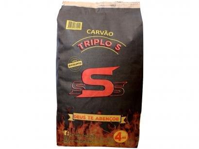 Carvão Vegetal Triplo S 100% Eucalipto 4kg