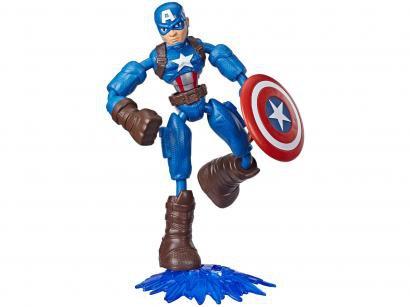 Boneco Capitão América Marvel Vingadores - Bend and Flex 15cm Hasbro