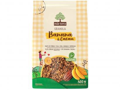 Granola Mãe Terra Integral Banana & Cacau 800g