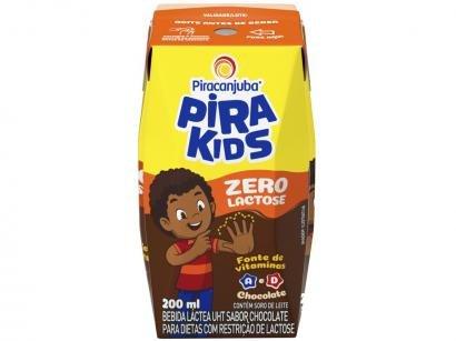 Bebida Láctea Piracanjuba Pirakids Zero Lactose - Chocolate 200ml