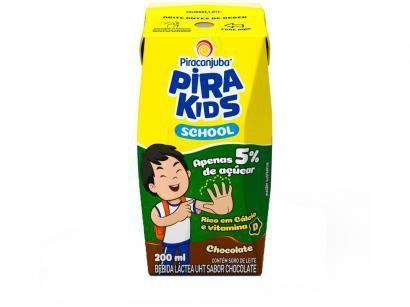 Bebida Láctea Piracanjuba Pirakids School - Chocolate 200ml