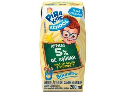Bebida Láctea Piracanjuba Pirakids School - Baunilha 200ml