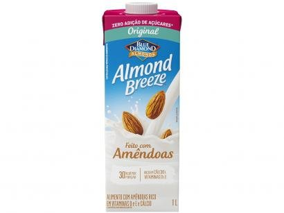 Bebida Vegetal de Amêndoas Almond Breeze - Original Zero Açúcar 1L