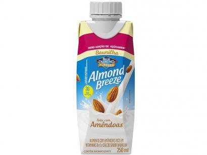 Bebida Vegetal de Amêndoas Almond Breeze - Baunilha Zero Açúcar 250ml