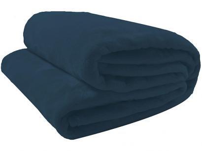 Cobertor Casal Camesa Microfibra 100% Poliéster - Velour Neo Azul Marinho