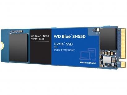"SSD 250GB Western Digital Blue NVMe M.2 2280 PCIe - 2,5"" Leitura 2400MB/s e Gravação 1950MB/s SN550"