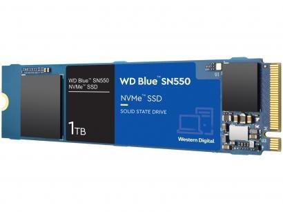 "SSD 1TB Western Digital Blue NVMe M.2 2280 PCIe - 2,5"" Leitura 2400MB/s e Gravação 1950MB/s SN550"