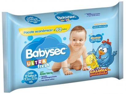 Toalha Umedecida Babysec Ultrafresh - Galinha Pintadinha 92 Unidades