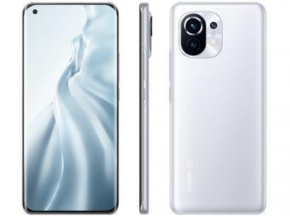 "Smartphone Xiaomi Mi 11 256GB Branco 5G - 8GB RAM Tela 6,81"" Câm. Tripla + Selfie 20MP"