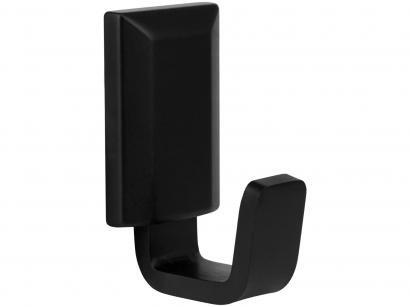 Porta-Toalha de Parede 5,5cm Preto Fosco - CB2040 Classic Black Ducon Metais