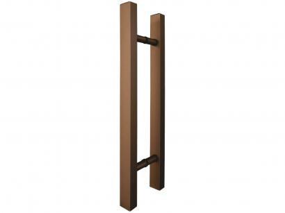 Puxador de Porta de Vidro e Madeira Ducon Metais - Classic CL3101 80cm Bronze