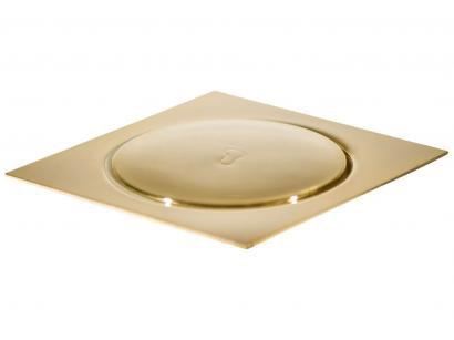 Ralo Click Quadrado Inox 15x15cm Ducon Metais - Gold GO5190 Dourado