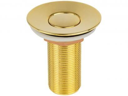 """Válvula para Lavatório Ducon Metais - Longa com Click 7/8"""" Gold 1603"""