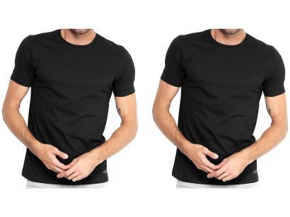 Kit 2 Camisetas Calvin Klein Básica Masculina