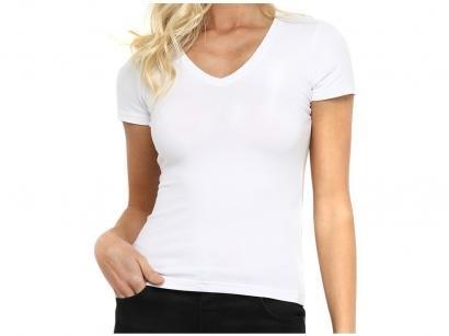 Camiseta Hering Básica 02TQ Feminina - Gola V Branca
