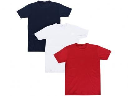 Kit 3 Camisetas Infantil Hering All Free Básica - Masculina