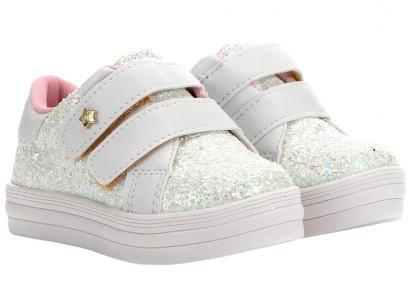 Tênis Infantil Menina Fashion Gliter Feminino - Branco