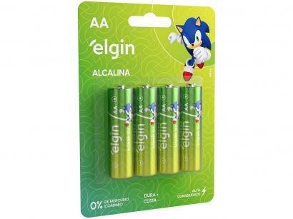 Pilha Alcalina AA ELE000000082153 Elgin 1,5V - 4 Unidades