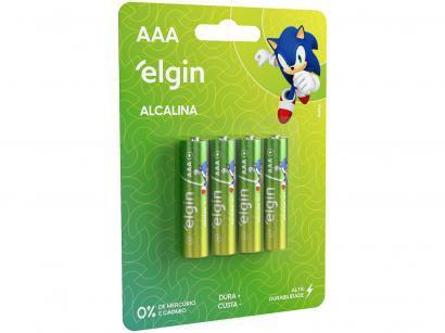 Pilha Alcalina AAA ELE000000082155 Elgin 1,5V - 4 Unidades