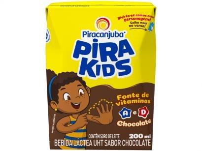 Bebida Láctea Piracanjuba Pirakids Chocolate 200ml