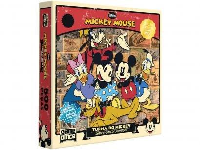 Quebra-cabeça 500 Peças Mickey Mouse - Game Office A Turma do Mickey Toyster