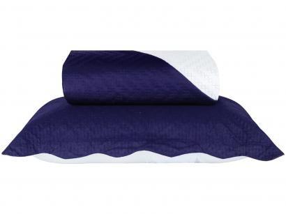 Colcha Solteiro Sultan Microfibra Cecília Dark - Azul Marinho 2 Peças