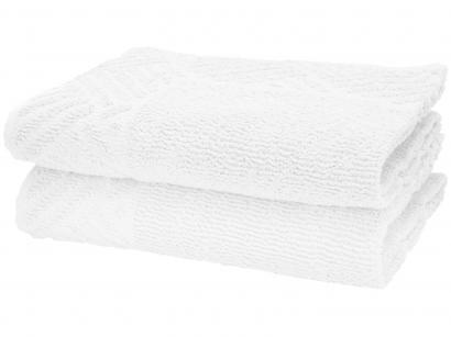 Toalha de Piso Teka Pezinho Branco - 46x70cm 2 Peças
