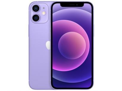"""iPhone 12 Mini Apple 128GB Roxo Tela 5,4"""" - 12 MP iOS"""