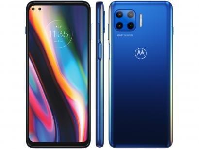 """Smartphone Motorola Moto G 5G Plus 128GB - Azul Oceano 8GB RAM Tela 6,7"""" Câm. Quádrupla"""