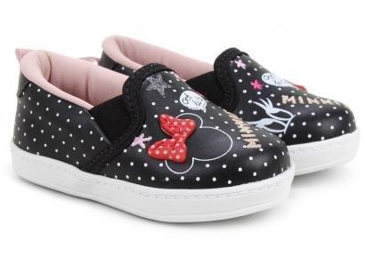 Slip On Infantil Disney Minnie Fashion Feminino - Preto