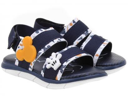 Sandália Infantil Disney Mickey Apliques Masculina - Marinho