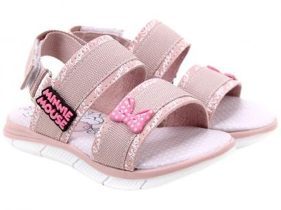 Sandália Infantil Disney Minnie Mouse Feminina - Rosa