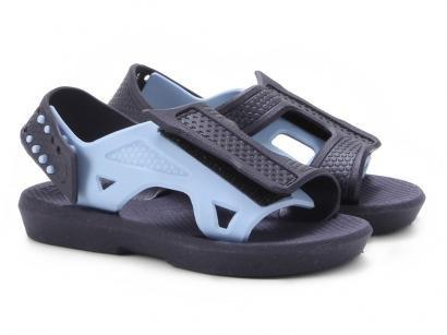 Sandália Infantil Luelua Papete Bicolor Masculina - Azul