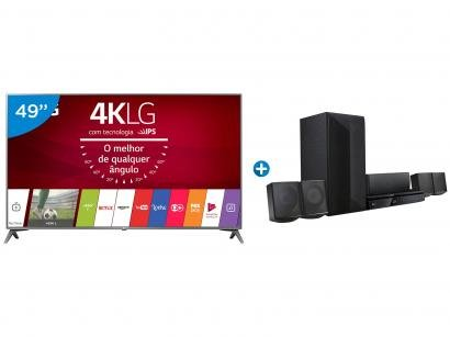 "Smart TV LED 49"" LG 4K/Ultra HD 49UJ6565 webOS - Conversor Digital 2 USB 4 HDMI..."