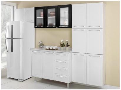 Cozinha Compacta Itatiaia Criativa 11 Portas Aço e - Balcão com Tampo 2 Portas...
