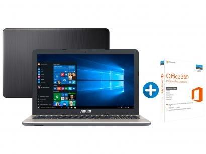"Notebook Asus Vivobook Max X541UA Intel Core i3 - 4GB LED 15,6"" + Microsoft..."