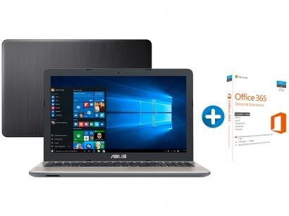 Notebook Asus Vivobook Max X541NA Intel Quad Core - 4GB 500GB LED + Microsoft...