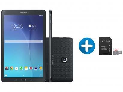"Tablet Samsung Galaxy Tab E T561 8GB 9,6"" 3G Wi-Fi - Android 4.4 + Cartão de..."