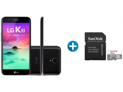 Smartphone LG K10 Novo 32GB Preto Dual Chip 4G - Câm. 13MP + Selfie 5MP +...