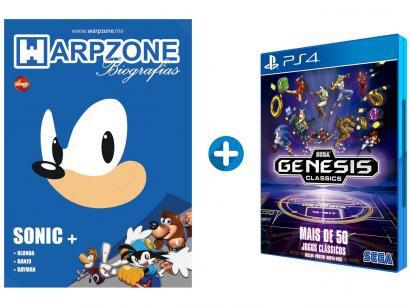 Genesis Classics para PS4 Sega Mais de 50 Jogos - com Pôster + Livro Biografias...