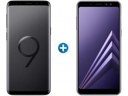 Smartphone Samsung Galaxy S9 128GB Preto - 4G + Smartphone Samsung Galaxy A8...