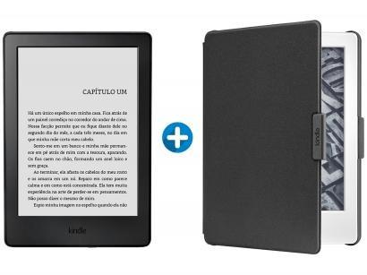 "Kindle 8ª Geração Amazon Tela 6"" 4GB Wi-Fi - Preto + Capa para Kindle 8ª..."