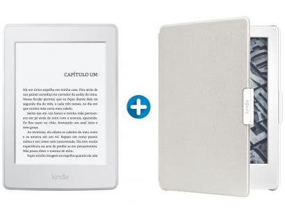 "Kindle Paperwhite Amazon Tela 6"" 4GB Wi-Fi - Luz Embutida + Capa para Kindle..."