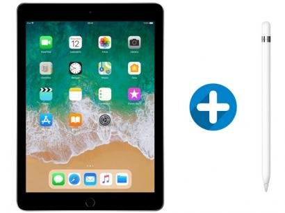 "iPad 6 Apple 32GB Cinza Espacial Tela 9.7"" Retina - Proc. Chip A10 Câm. 8MP +..."