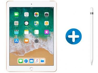 "iPad 6 Apple 4G 128GB Dourado Tela 9.7"" - Retina Proc. Chip A10 Câm. 8MP +..."