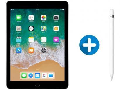 "iPad 6 Apple 4G 32GB Cinza Espacial Tela 9,7"" - Retina Proc. Chip A10 Câm. 8MP..."