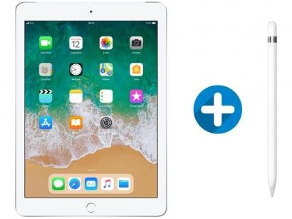 "iPad 6 Apple 4G 32GB Prata Tela 9,7"" - Retina Proc. Chip A10 Câm. 8MP + Apple..."
