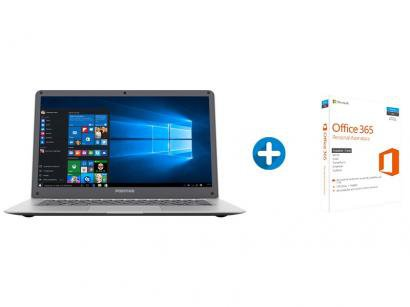 "Notebook Positivo Motion Q 232A Intel Quad Core - 2GB 32GB LCD 14"" + Microsoft..."