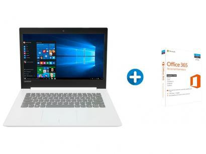 "Notebook Lenovo Ideapad 320 Intel Core i3 - 4GB 500GB LED 14"" + Microsoft..."